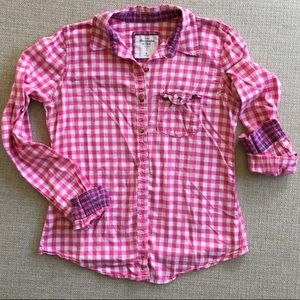 Abercrombie & Fitch pink and white buffalo check